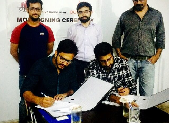 LUMS Startup Sabzi.pk Signed MoU with Door Drop