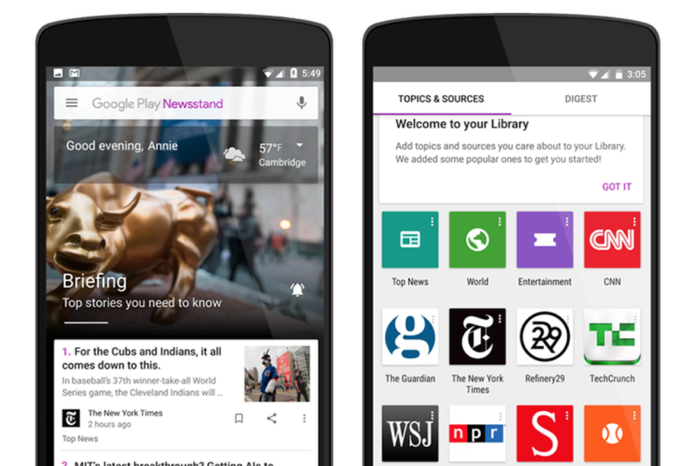 Google Play Newsstand Relaunched With Web Version