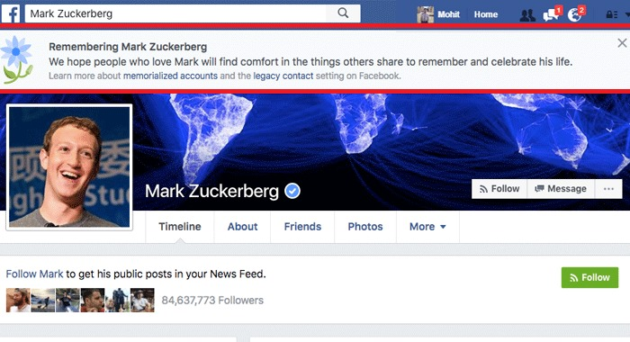 Facebook Temporarily Marked Many Users As Dead