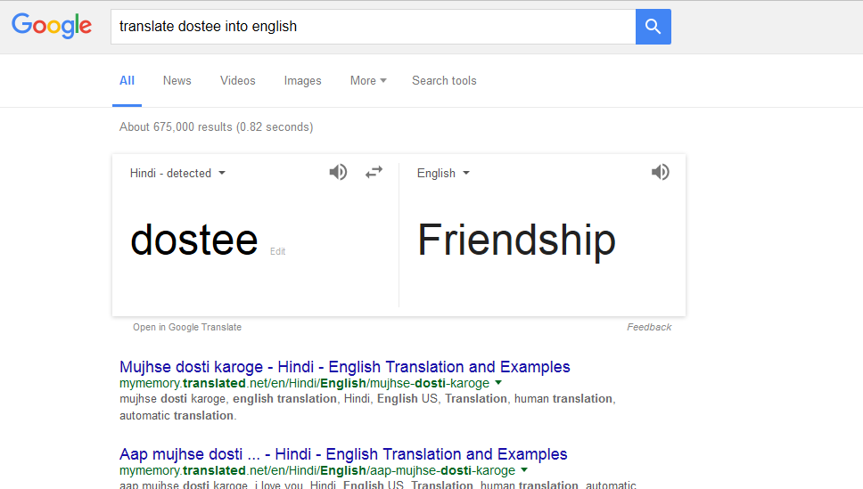 English to hindi translation google