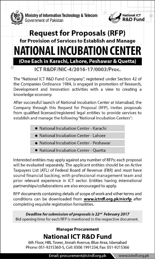 National Incubation Center