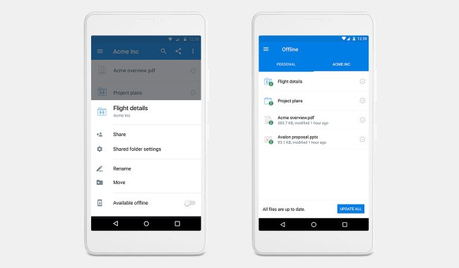 Dropbox Brings Offline Viewing To Folders