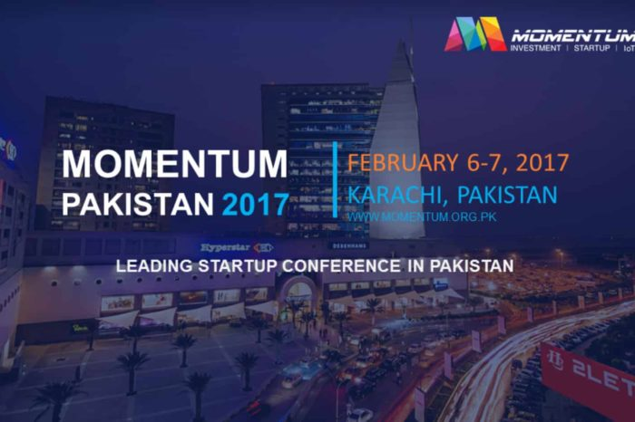 Pakistan's Leading Startup Conference Momentum 2017 to be held on 6th & 7th February in Karachi