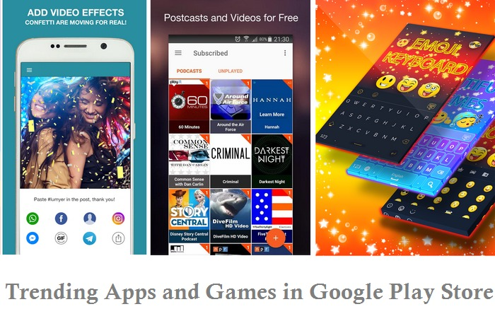 Top Trending Apps and Games in Google Play Store 2016