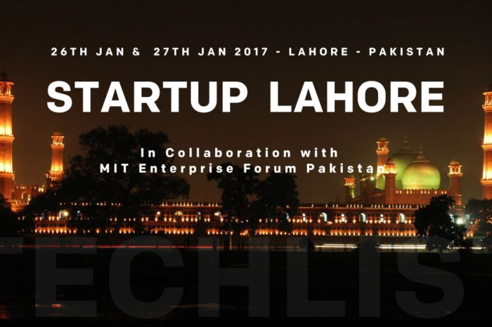 Startup Lahore to Be Held on the 26th & 27th January 2017