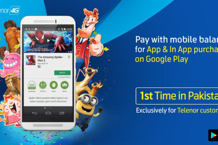 Telenor customers can pay with mobile balance for their purchases on Google Play store