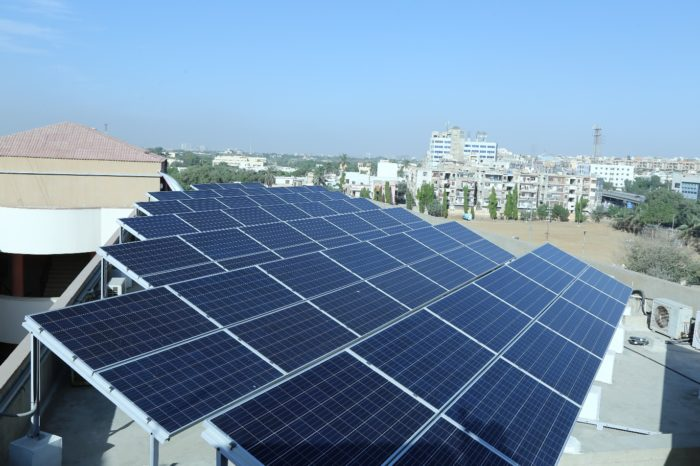A private research institute in Karachi moved to environment-friendly solar energy