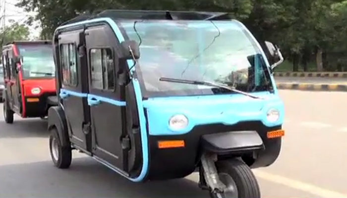 Air-conditioned electric rickshaw has been introduced in Pakistan
