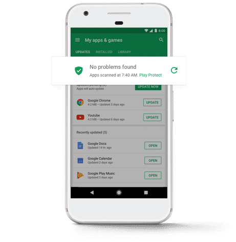 Google Play Protect aims to keep you safe from malicious apps