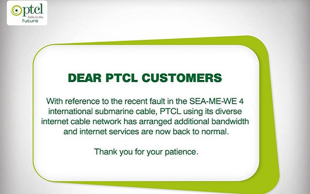 PTCL to offer extra speed as apology for its poor broadband services
