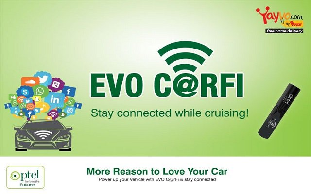 PTCL launches new device called CarFi with collaboration of Yayvo and Daraz.pk