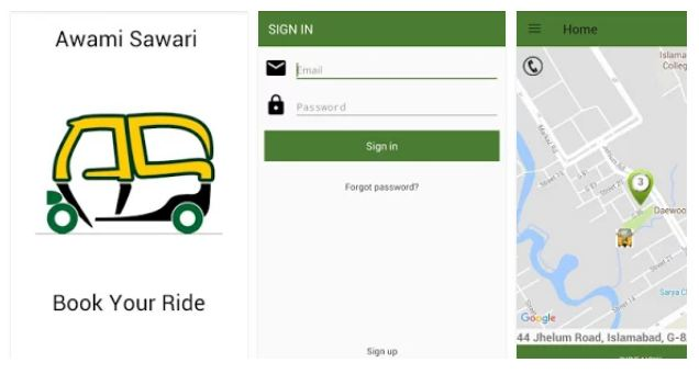 Rickshaw App Awami Sawari