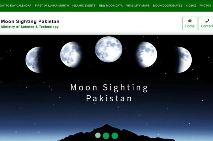 Pakistan launches first moon-sighting website and Hijri Calendar