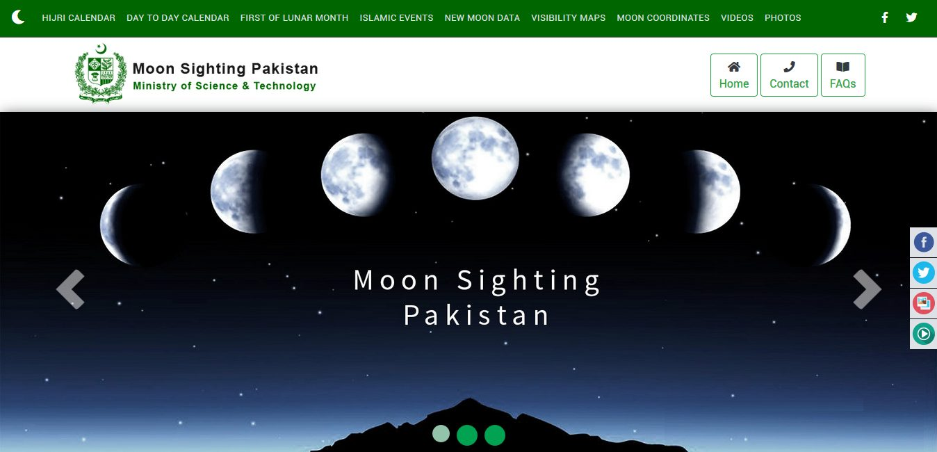 moon-sighting website