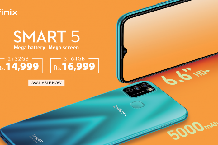 With 5000 mAh Mega Battery Infinix Smart 5 is available now